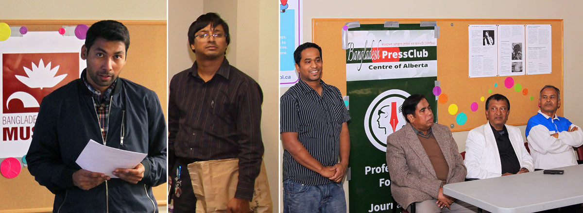 Speakers at the opening event